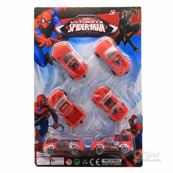 Набор игрушечных машинок Spider Man (21023)