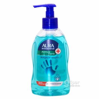 """Жидкое мыло AURA антибактериальный """"Active herb"""" Алоэ, 300 г"""