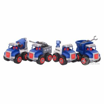Набор игрушечных грузовиков YLY toys, 4 шт