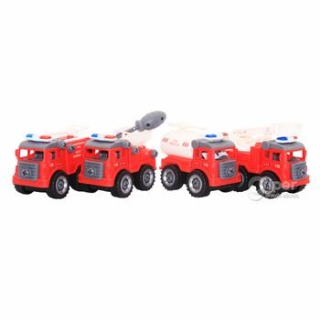 Игрушечные пожарные машины, 4 шт