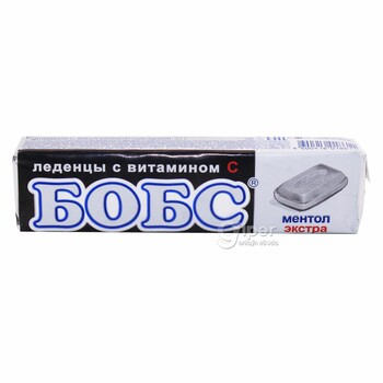 """Леденцы Бобс """"Ментол экстра"""" с витамином, 35 г"""