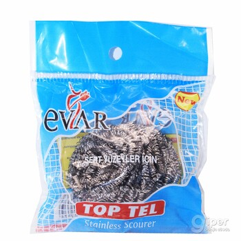 EVAR мочалка из нержавеющей стали, 1 шт