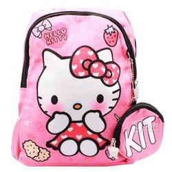 Детский дошкольный рюкзак Hello Kitty 30x20x8 см, розовый