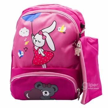 Детский дошкольный рюкзак Bunny&Bear  30x22x10 см, розовый