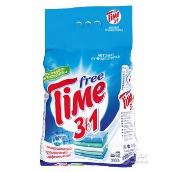 Бестселлер Стиральный порошок Free Time 3 в 1, 2 кг картонная пачка