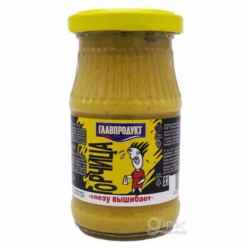 "Горчица  ""Главпродукт"" cлезу вышибает, 170 г"