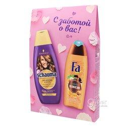 Подарочный набор шампунь Schauma + гель для душа Fa для женщин