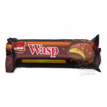 Печенье с начинкой Wasp в шоколаде с карамельным вкусом, 252 г