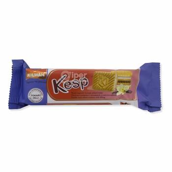 """Сахарное печенье с начинкой """"Kesp"""" с ванильным вкусом, 75 г"""