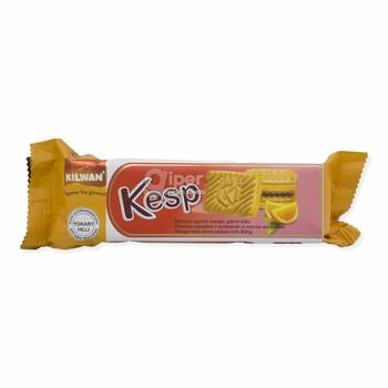 """Сахарное печенье с начинкой """"Kesp"""" со вкусом апельсина, 75 г"""