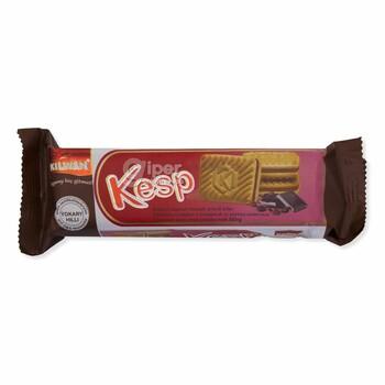 """Сахарное печенье с начинкой """"Kesp"""" со вкусом шоколада, 75 г"""