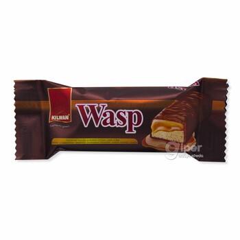 Печенье с начинкой Wasp в шоколаде со вкусом карамели, 20 г