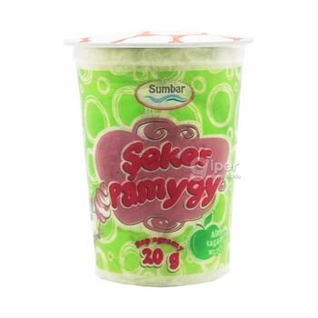 """Сахарный хлопок """"Sumbar"""" со вкусом яблока и ароматное, 20 г"""