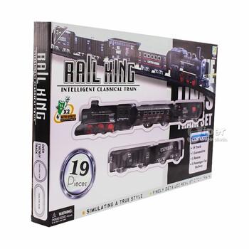 Интеллектуальный классический поезд Rail King, 19 деталей