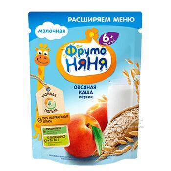 """ФрутоНяня"" детская молочная овсяная каша с персиком, 200 г"