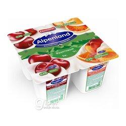Йогурт Alpenland фруктовый, вишня-нектарин, дикий апельсин 0,3%, 95 г