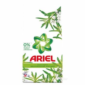"""Стиральный порошок """"Ariel"""" автомат аква - пудра с ароматом вербены, 3 кг."""