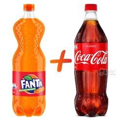 Газированный напиток Coca-Cola + Fanta, 1+1