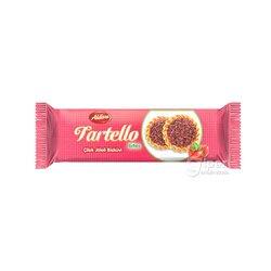 """Сахарное печенье посыпанное шоколадной крошкой Aldiva """"Tartello"""" клубничный желейный, 40 г"""