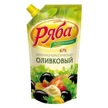 Майонез Ряба Оливковый 67%, 390 г