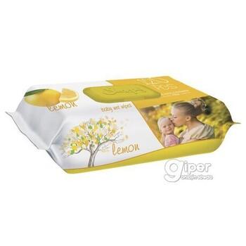 Влажные салфетки SLEEPY лимон пластиковая крышка, 120 шт