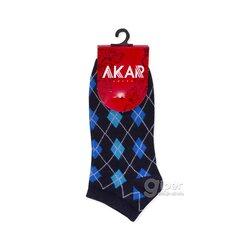 Женские носки укороченные ромбик AKAR BBL02A, 36-40 размер, темно-синий