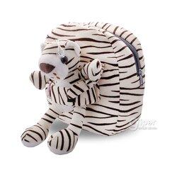 """Детский плюшевый-рюкзак со съемной мягкой игрушкой """"Леопард"""""""