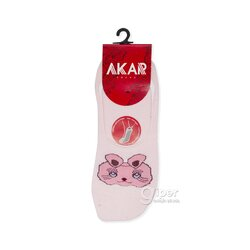 Женские носки следки кошечка AKAR BBL03A, размер 36-40, розовый