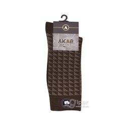 Мужские носки пятнистые AKAR BEL01, 40-43 размер, темно-коричневый