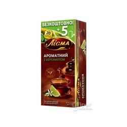 """Чай черный Лисма """"Ароматный с Бергамотом"""" в пакетиках, 25 шт. 37,5 г"""