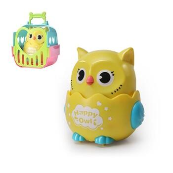 Игрушка - Happy Owl желтая, 12 cм