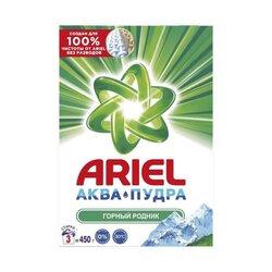 """Стиральный порошок """"Ariel"""" Автомат аква - пудра, горный родник, 450 г"""
