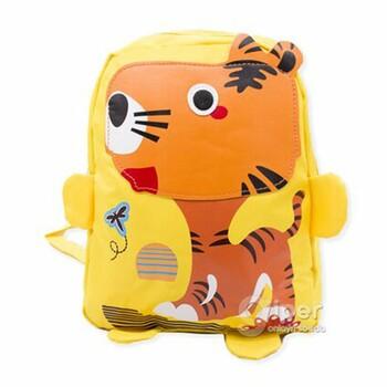 """Детский дошкольный рюкзак """"Тигрёнок"""" 30x23x10 см, желтый"""