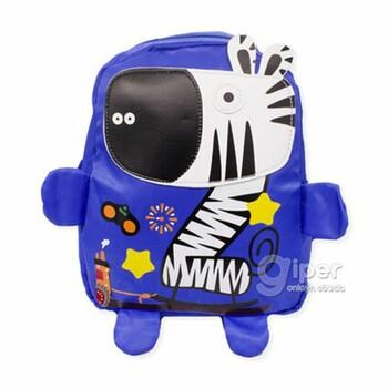 """Детский дошкольный рюкзак """"Зебра"""" 30x23x10 см, синий"""