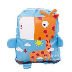 """Детский дошкольный рюкзак """"Жираф"""" 30x23x10 см, голубой"""