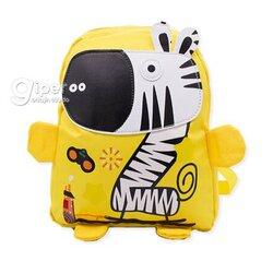"""Детский дошкольный рюкзак """"Зебра"""" 30x23x10 см, желтая"""