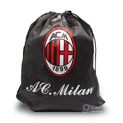 Рюкзак-мешок на затяжках АС Milan 41*33 см, черная