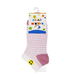 Детские носки полоски AKAR BBCL02A.7, 27-30 размер, белый