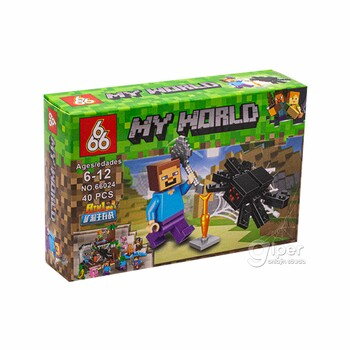 Мини-конструктор MY WORLD (66024-1) 40 детали