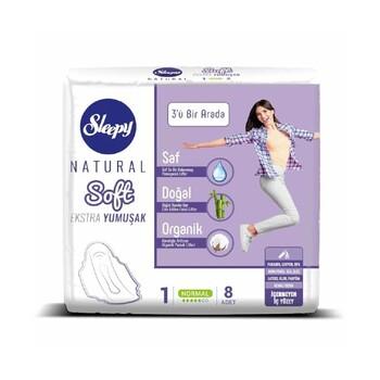Прокладки Sleepy Natural Очень мягкий 1 normal 5 капель, 8 шт