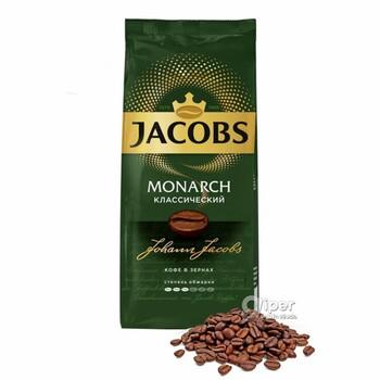 Кофе в зернах Jacobs Monarch Классический, пакет 230 г