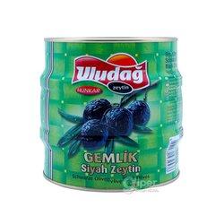 """Маслины черные с косточками """"Uludağ"""" Gemlik, 1800 г"""
