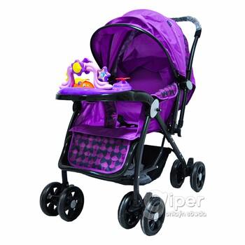 Детская прогулочная коляска, сиреневая (6013)