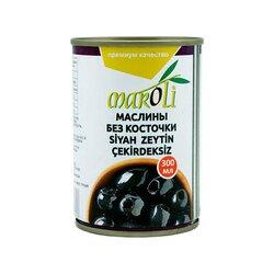 Maroli маслины черные без косточки, 300 мл