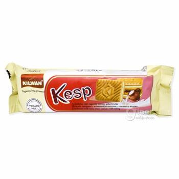 """Kilwan """"Kesp"""" сахарное печенье с начинкой со вкусом сгущённого молока, 90 гр"""