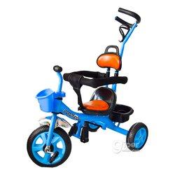 Прогулочный трехколесный велосипед, детский, синий-черный (689-1)