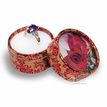 Кольцо с декоративной яшмой, 19,5*, b07 (KMA)