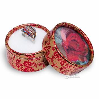 Кольцо с декоративной яшмой, 17,5*, b10 (KMA)