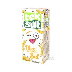 "Молоко со вкусом банана ""Tek Süt"" 200 мл"