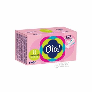 Тампоны Ola! Super Шелковистая поверхность, 3 капель, 8 шт